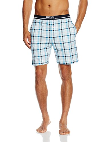 BOSS Hugo Boss Herren Schlafanzughose Short Pant EW Jersey, Blau (Light/Pastel Blue 450), Small