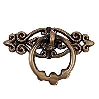 Tinksky 10 Jahrgang Ring Pull Handles Knöpfe für Küchenschrank Schrank Kommode Schublade (Antik Messing)