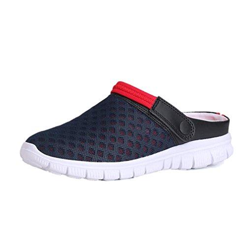 Uomogo® unisex sandali zoccoli scarpe da spiaggia da mare casual respiranti clogs sabot pantofole estate uomo donna (asia 42, nero)