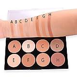 Die besten Blush Palettes - LCLrute Concealer Miss Rose 8 Farbe Creme Camouflage Bewertungen