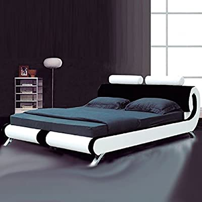 Fench Designer Bed Black & White - low-cost UK light shop.