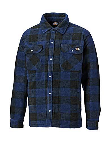 Dickies portland, camicia imbottita in pile (sh5000) verde/blu navy royal blue xl