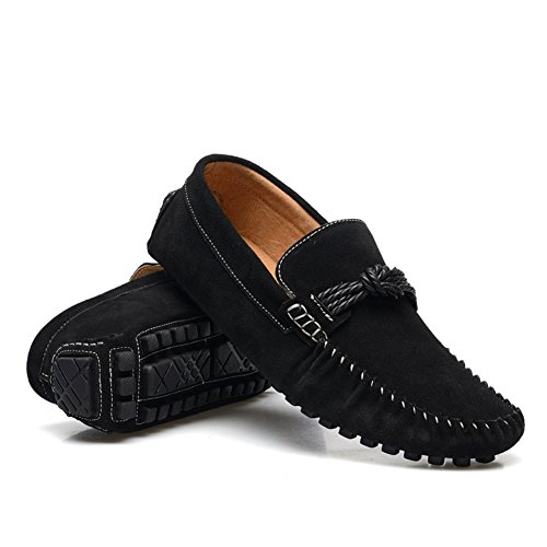 XiaoYouYu Leather Shoes, Basses Homme Noir
