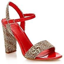 Tacon es De Guess Rojos Zapatos Amazon IdqPI