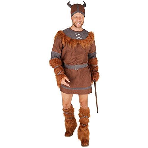 Herrenkostüm Winkinger | Gewand mit Kunstfell | inkl. Gürtel + Hut + Arm - und Beinstulpen (XXL | Nr. (Sie Halloween Paare Sich Kostüme Machen Es)