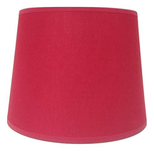 20,3 cm Rouge Empire Tissu de coton Abat-jour lumière Abat-jour Table fait à la main.