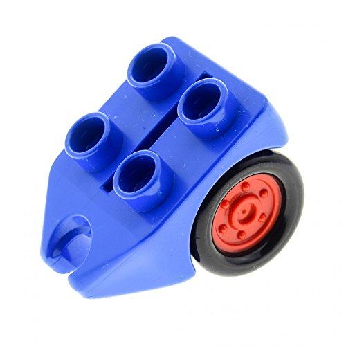 Bausteine gebraucht 1 x Lego Duplo Rad Blau mit 4 Noppen Fahrwerk Passagier Flugzeug Hubschrauber Airplane dupwheel02c01