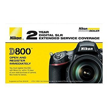 Nikon 2 Year Extended Service Coverage for D800 / D800E Digital SLR Cameras