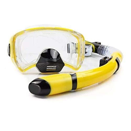 BaFangMáscaras de Buceo Hombres Mujeres Profesional Natación Snorkel Tube Adulto Buceo Aletas Largas Snorkel Aletas Zapatillas de natación