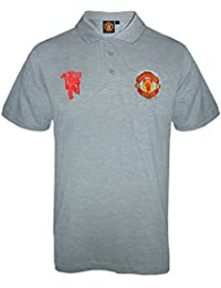 1335cd0795b Manchester United FC Official Football Gift Mens Crest Polo Shirt