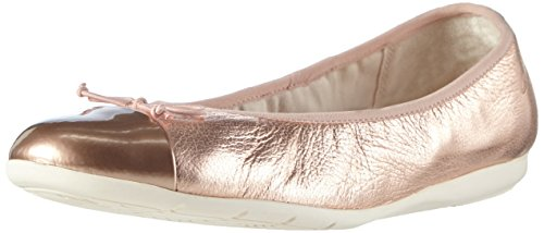 Clarks Dance Puff Jnr, Mädchen Ballerinas, Gold (Rose Gold), 33 EU (1 Kinder UK)