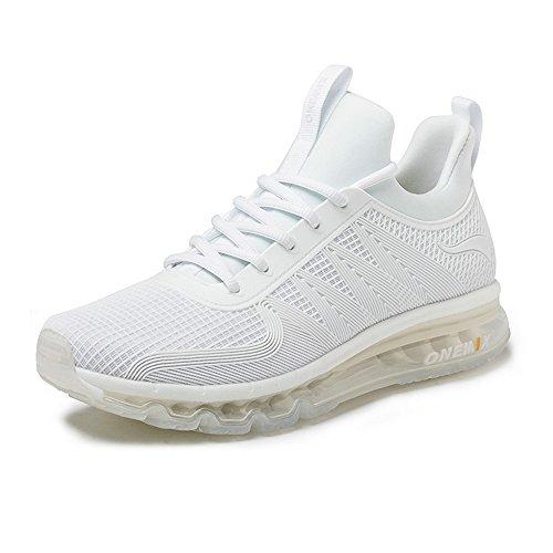 Onemix Air Deportes Zapatillas De Running para Hombre Aire Libre Respirable Zapatos para Correr Blanco 39 EU