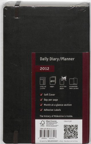 Cheapest Price for 2012 Moleskine Large Daily Diary/Planner Soft (Moleskine Legendary Notebooks) Review