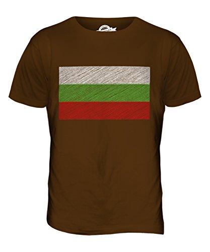 CandyMix Bulgarien Kritzelte Flagge Herren T Shirt Braun