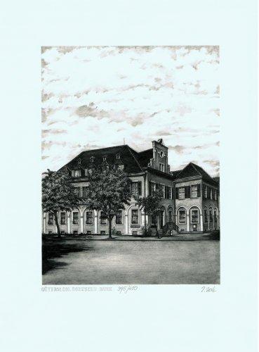 di-gutersloh-deutsche-bank-stampa-su-tela-arte-grafica-acquaforte-stampata-auf-holzrahmen-50-x-60-cm