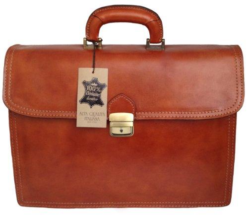 CTM Borsa Uomo 24 ore porta documenti, 41x31x18cm, Vera Pelle 100% Made in Italy