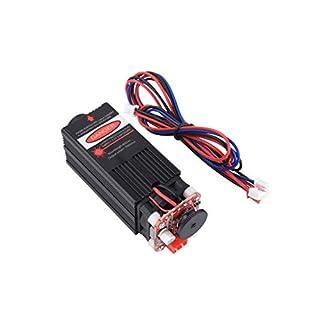 5.5W 450nm blaue Laser Modul Holzstich PWM TTL-Steuerung Laserdiode Kraft einstellbar Fokussierbar zum CNC-Lasergravurmaschine CNC-Lasergravierer DIY Graviermaschine 5500mw (5.5W Laser Modul)