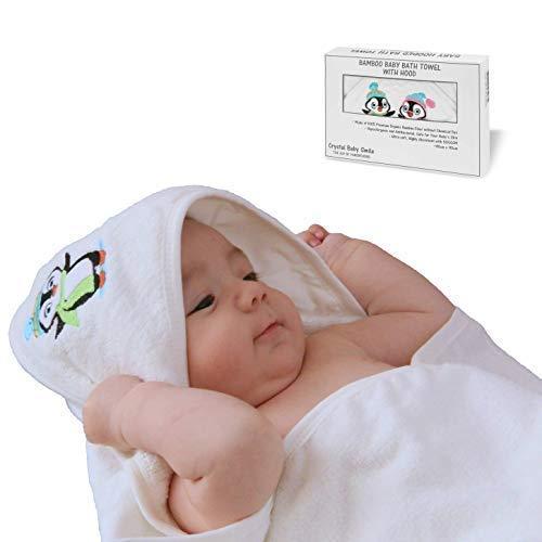 ambus Badetuch mit Kapuze für Neugeborene, Säuglinge oder Kleinkinder 90x90cm - Ultra-weich und hoch absorbierend - Kapuzenhandtuch für Jungen oder Mädchen - Geschenk für Babyparty ()