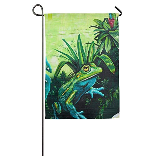 rog Painting Garden Flag Indoor & Outdoor Decorative Flags for Parade Sports Game Family Party Wall Banner 12x18 inches ()