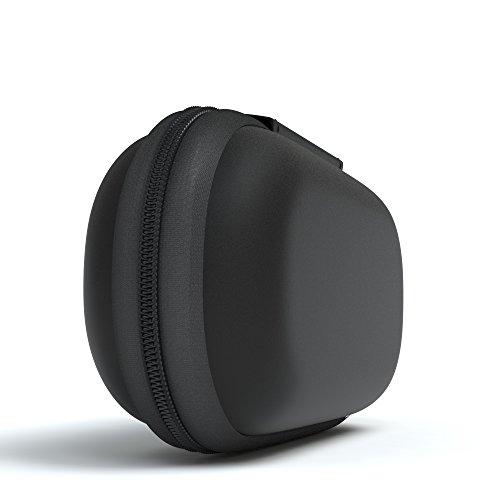 EAZY CASE Universal Tasche für In-Ear Kopfhörer mit Netzfach - Hardcase Aufbewahrungsbox, Schutztasche mit umlaufenden Reißverschluss, extra klein, oval, Schwarz - 2