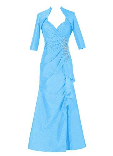 Dresstells, Robe de soirée Robe de cérémonie Robe de mère de la mariée en taffetas longueur ras du sol Bleu