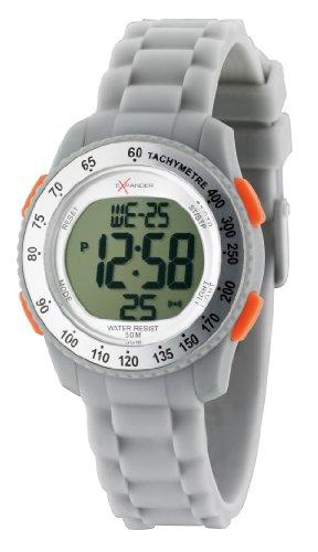SECTOR Sector - Reloj digital de cuarzo unisex con correa de silicona, color gris