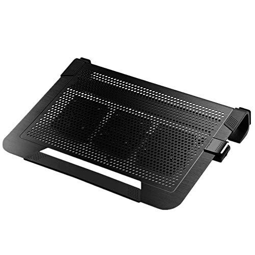 Flmn Notebook Cooler Cooling Pad 3plus Kühlsockel Aluminium 3 Lüfterloses Werk unter 17,3 Zoll -