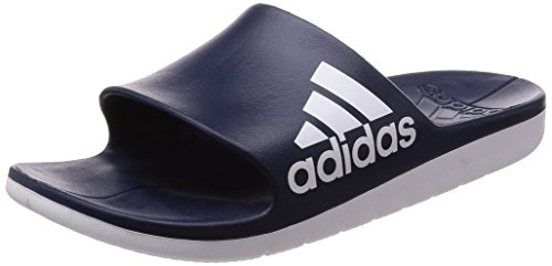 adidas Herren Aqualette Cloudfoam Dusch-& Badeschuhe Blau (Collegiate Navy/footwear White/footwear White 0)