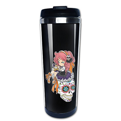Sugar Skull und Roses Halloween Travel Kaffee Tassen, Tee Tasse