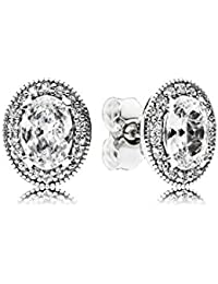 Pandora Women Silver Stud Earrings - 296247CZ
