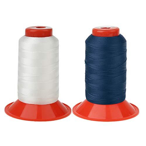 perfk 2 Spulen Starke Nähgarn Nähen für Leder Craft Repair Schuhe Polstermöbel Zelte Rucksäcke Schlafsäcke