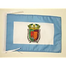 BANDERA de la PROVINCIA DE MÁLAGA 45x30cm - BANDERINA MÁLAGA ENANDALUCÍA 30 x 45 cm cordeles - AZ FLAG
