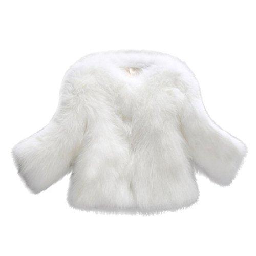 OverDose Abrigos de Mujer Elegantes Abrigo Suave y Esponjoso de Piel sintética XS/S/M/L/XL/XXL