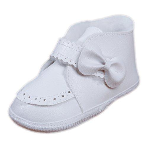 Babyschuhe Winterschuhe für Mädchen weiß mit Klettverschluss Modell 3429 (19(9-12 M.))