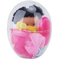 Juego de juguetes para niños Juego de muñecas de silicona suave Mini Juego de vestir Muñeca Juguetes para niños pequeños en huevo plástico
