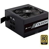Corsair TX550M Alimentation PC (Semi-Modulaire, 80 PLUS Gold, 550 Watt, EU)