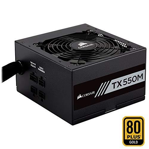 Corsair TX550M PC-Netzteil (Voll-Modulares Kabelmanagement, 80 Plus Gold, 550 Watt, EU)