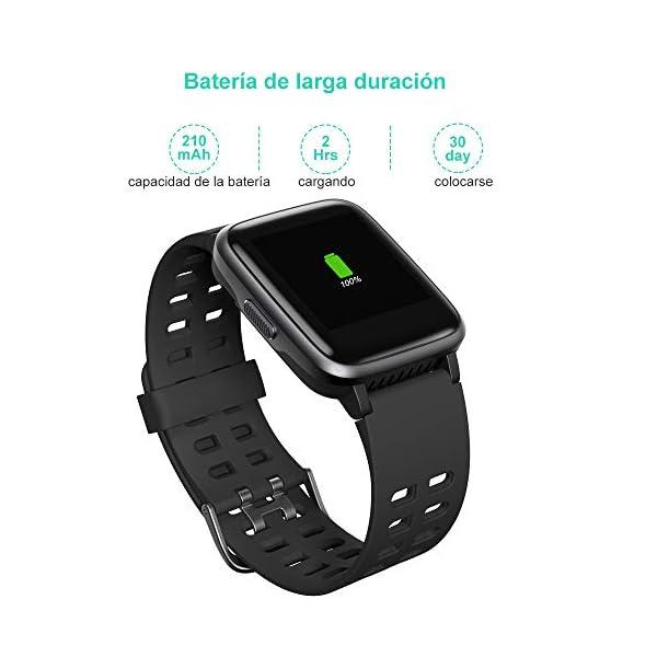 YAMAY Smartwatch, Impermeable Reloj Inteligente con Cronómetro, Pulsera Actividad Inteligente para Deporte, Reloj de… 8