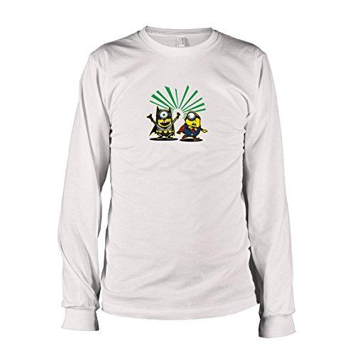 TEXLAB - Bat vs. Super Banana - Herren Langarm T-Shirt Weiß