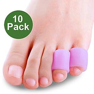 Sumiwish 10x Zehenschutz Silikon, Kleiner Zeh Für Männer und Frauen Zehenschutz Kleinere Zehen