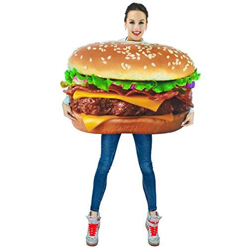 Sea Hare 3D Unisex Digitaldruck Hamburger Kostüm für Erwachsene (Erwachsene Cheeseburger Kostüme)