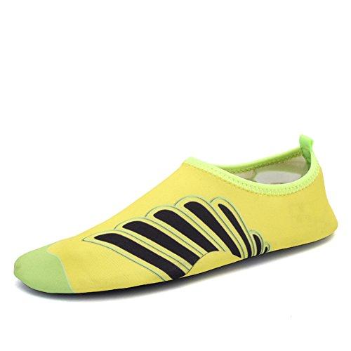 Eagsouni® Chaussures de plage et piscine Chaussure aquatique Sport deau Chausson Water Shoes #5Jaune