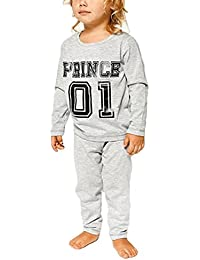 Juleya Coincidencia de la Familia Pijamas de Manga Larga Superiores y Largos de Las Partes Inferiores de los Pantalones Dormir Tamaño Size S-XXL