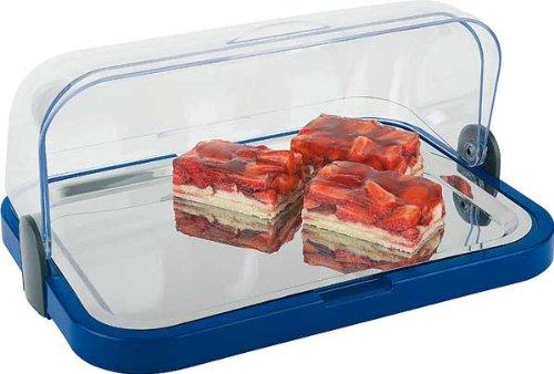 Kühlvitrine Buffet-Vitrine EINFACH in BLAU 4 Teilig inkl. Kühlakkus *1A*