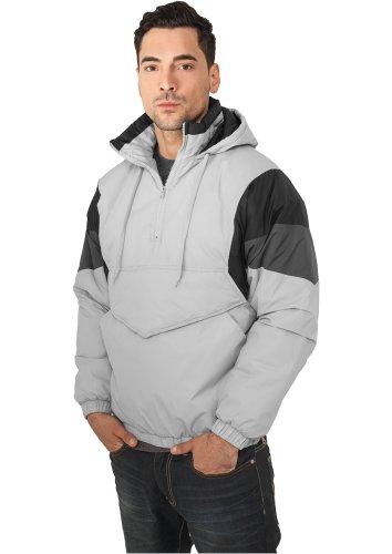 URBAN CLASSICS - Nylon Hoody (grey/black/dark grey) - Jacke