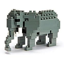 Nanoblock - Elefante Africano, juego de construcción (NBC035)