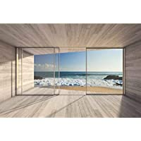 Papel Pintado Para Ventana en playa 375 x 250 cm | pared Imágenes XXL – cuadro