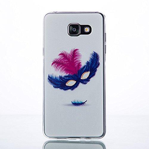 Galaxy A7 (2016) Hülle, SainCat Silikon Hülle Tasche Handyhülle [Kratzfeste, Scratch-Resistant] TPU Gel Bumper Case Weiches Transparentes Silikon Schutzhülle Crystal Kirstall Clear Case Durchsichtig M Black Lace