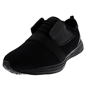 Get Fit Mens Lightweight Walking Running Athletic Fitness Cushioned Trainers - Black - UK7/EU41 - BS0178
