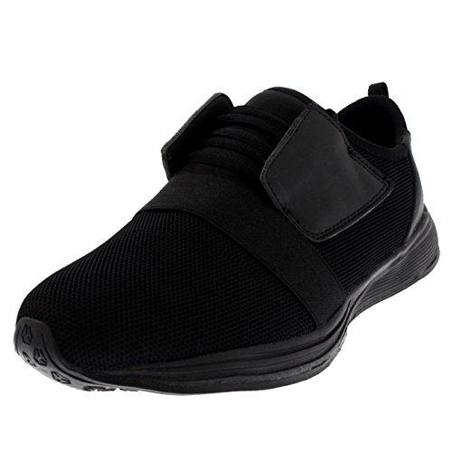 Mujer Ligero para Caminar Corriendo Atlético Aptitud Amortiguado Entrenadores - Negro - UK5/EU38 - BS0176